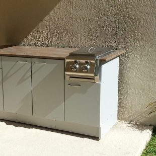 Outdoor Side Burner Grill Cabinet